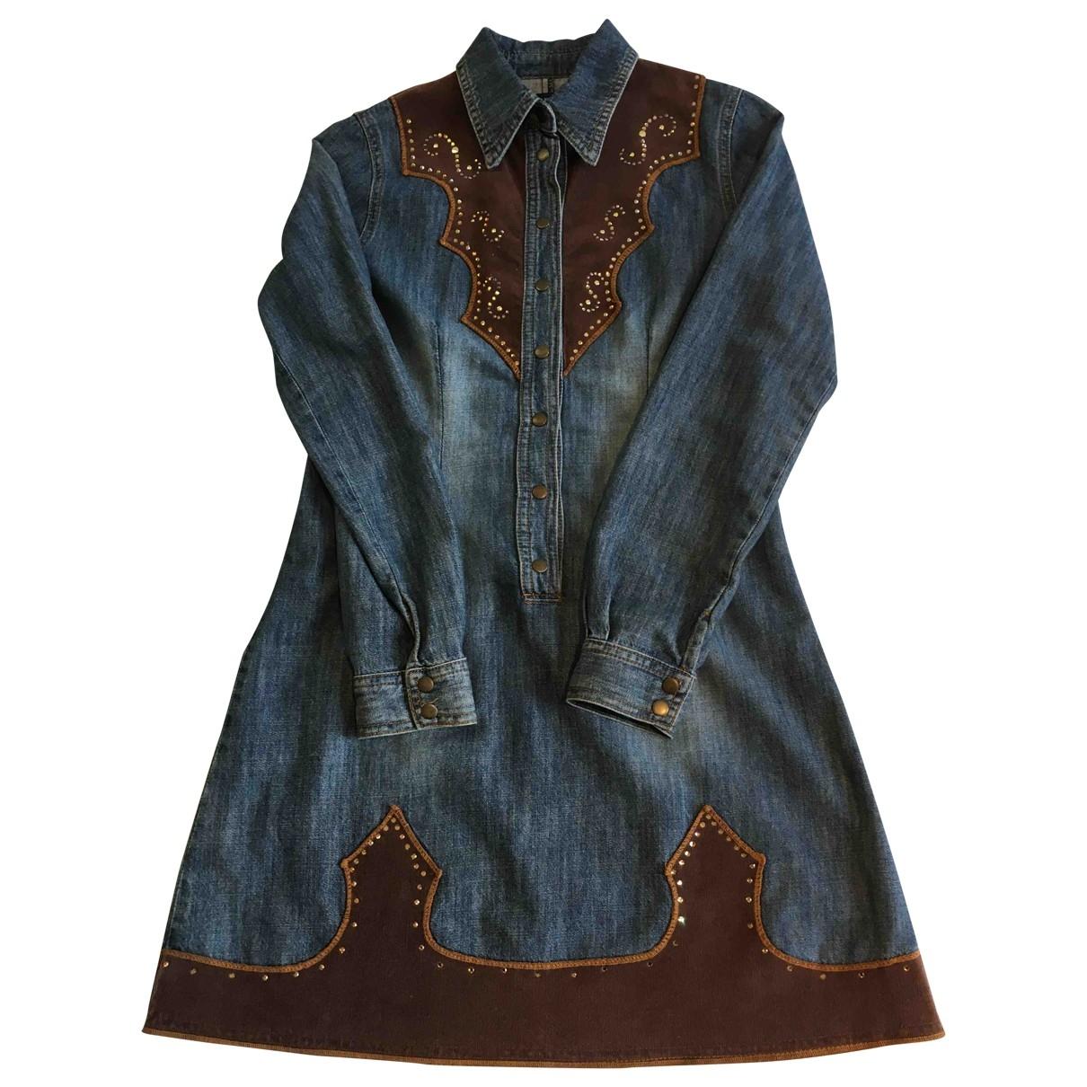 Parrot - Robe    pour enfant en coton - bleu