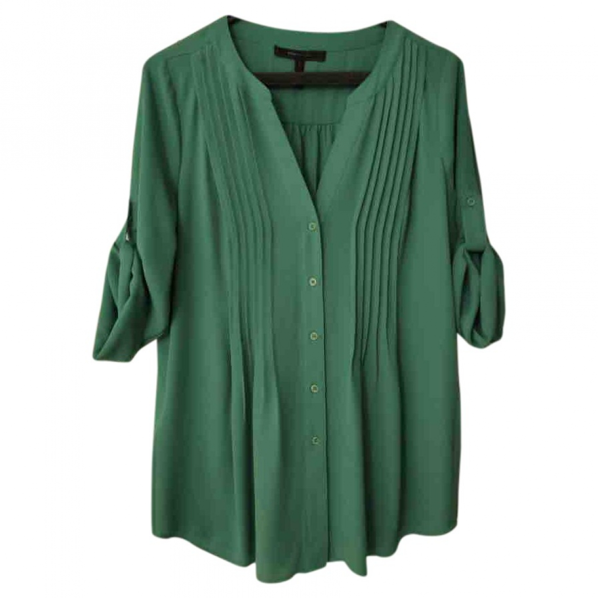Bcbg Max Azria - Top   pour femme en soie - vert