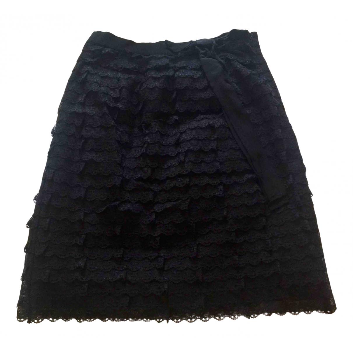 Red Valentino Garavani - Jupe   pour femme en soie - noir