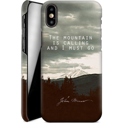 Apple iPhone X Smartphone Huelle - The Mountain Is Calling von Leah Flores
