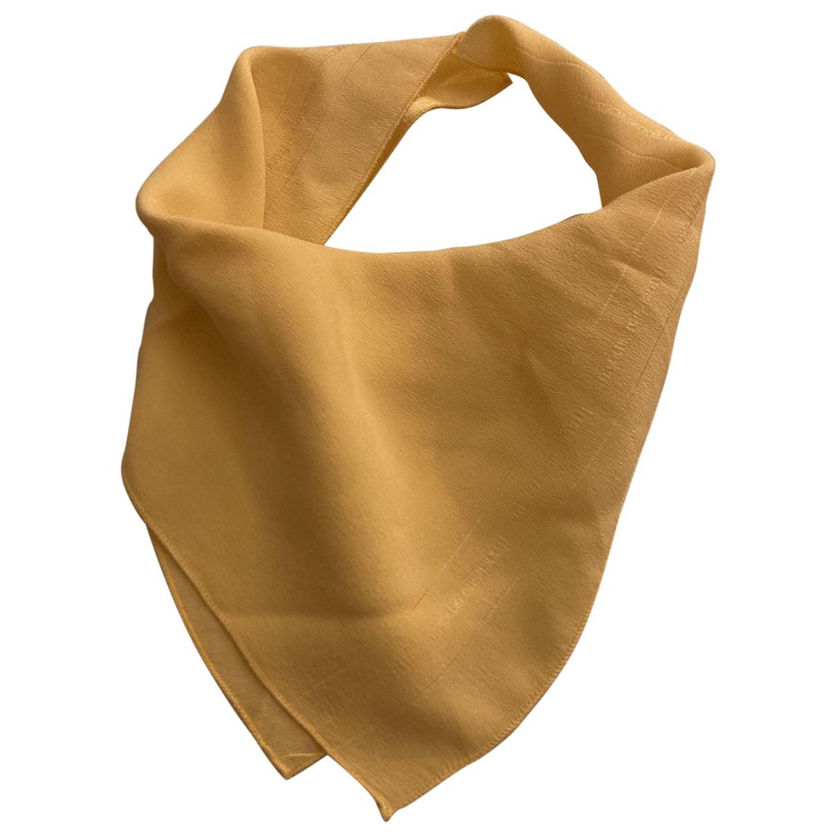 Francesco Smalto - Carre   pour femme en soie - jaune