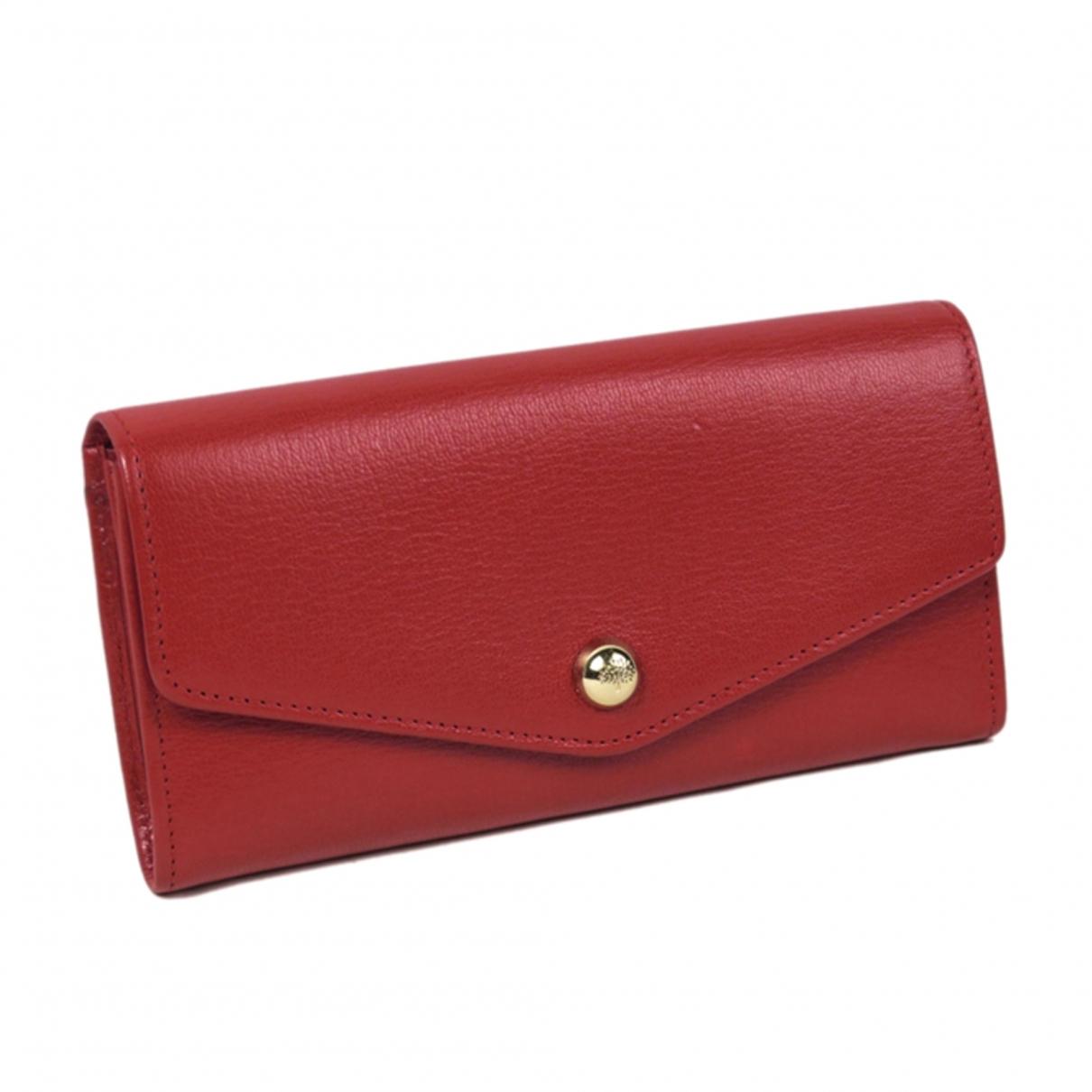 Mulberry - Portefeuille   pour femme en cuir - rouge