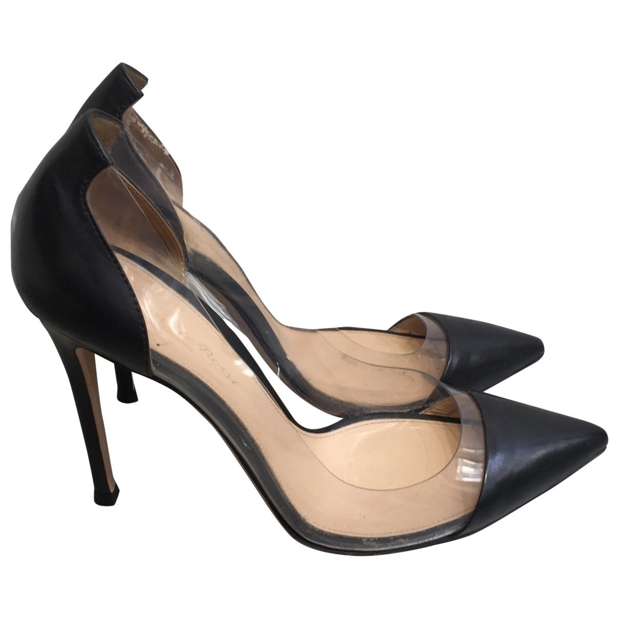 Gianvito Rossi - Escarpins Plexi pour femme en cuir - noir