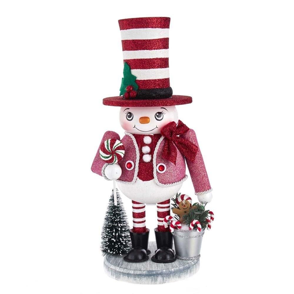Kurt Adler 12-Inch Hollywood Snowman Nutcracker (Multi - Indoor)
