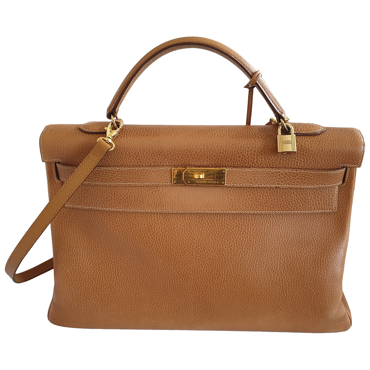 Hermès Kelly 40 Camel Leather handbag for Women \N