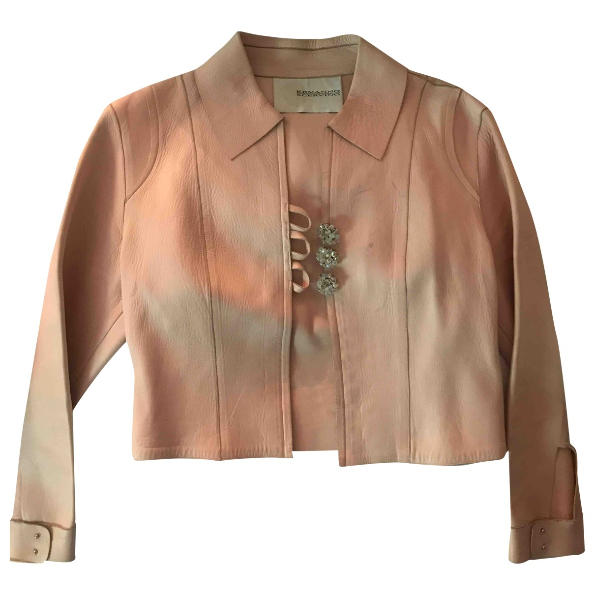 Ermanno Scervino \N Pink Leather jacket for Women 42 IT