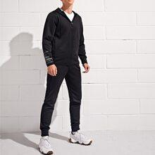 Sports Jacke mit Reissverschluss, Kordelzug und Kapuze & Jogginghose