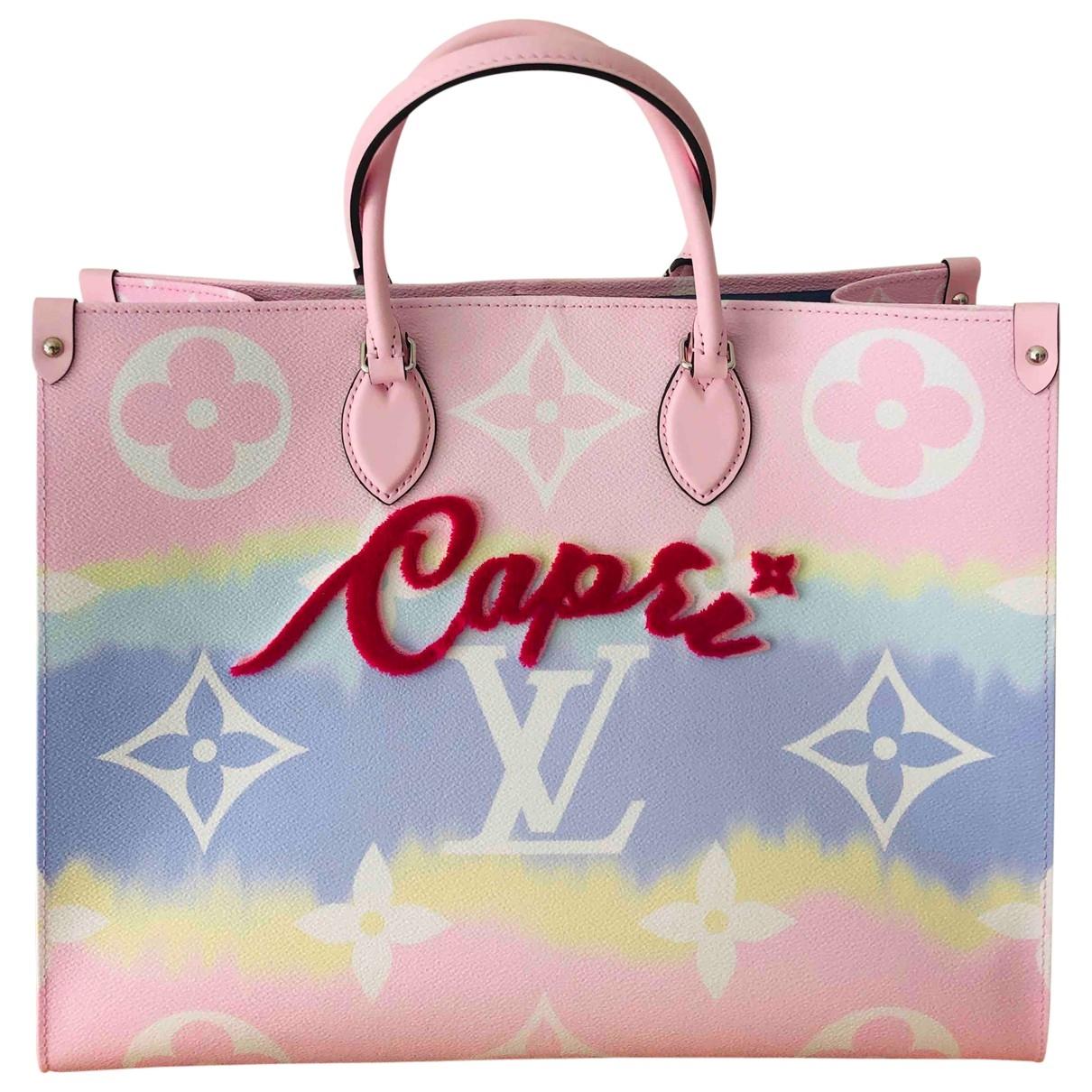 Cabas Onthego de Cuero Louis Vuitton