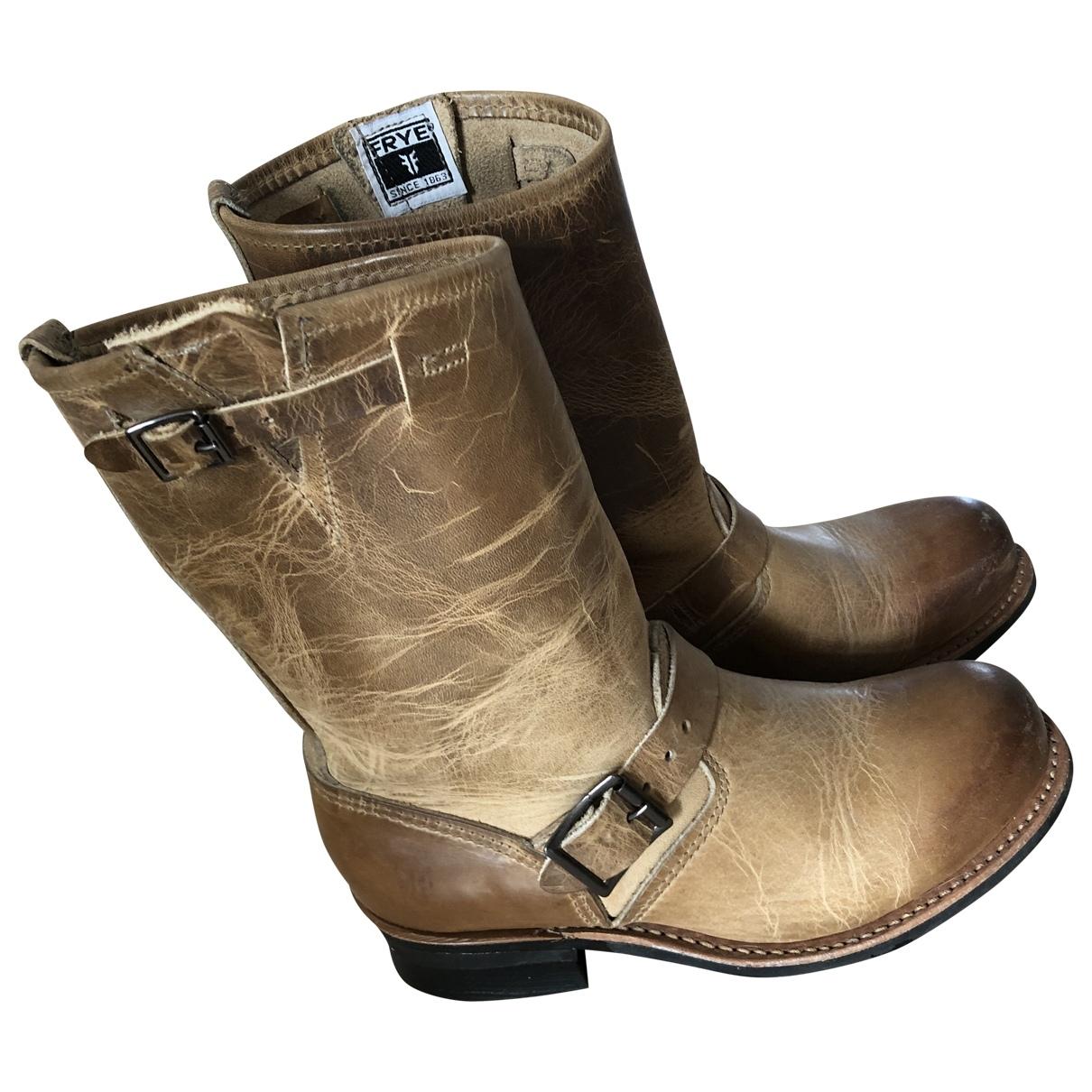 Frye \N Beige Leather Boots for Women 38.5 EU
