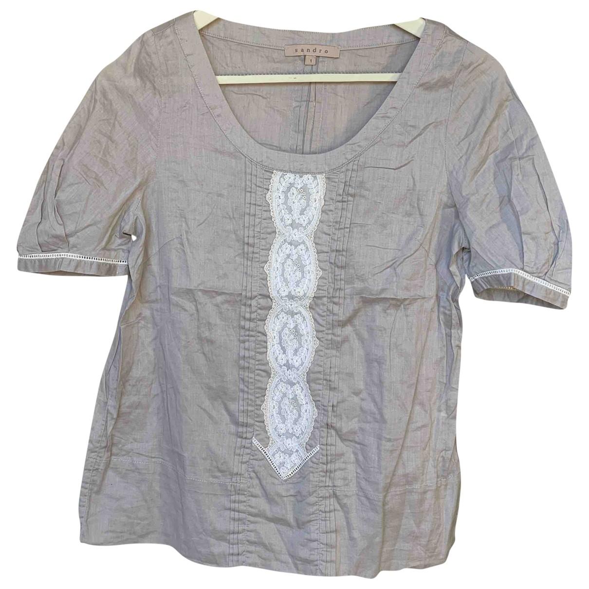 Sandro \N Grey Cotton  top for Women 36 FR