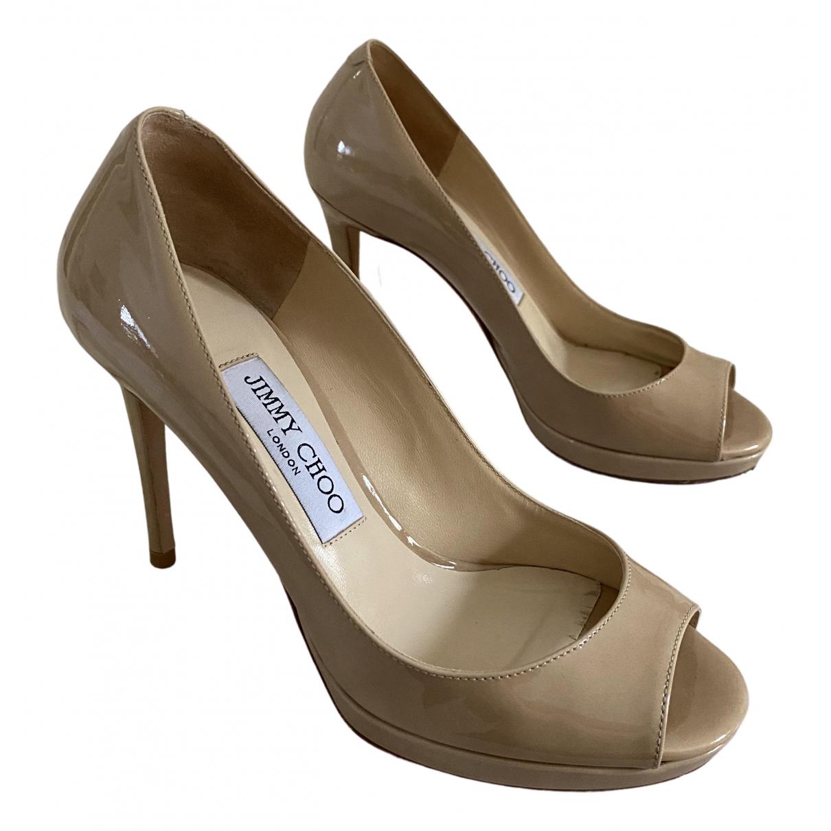 Jimmy Choo N Beige Patent leather Heels for Women 36 EU