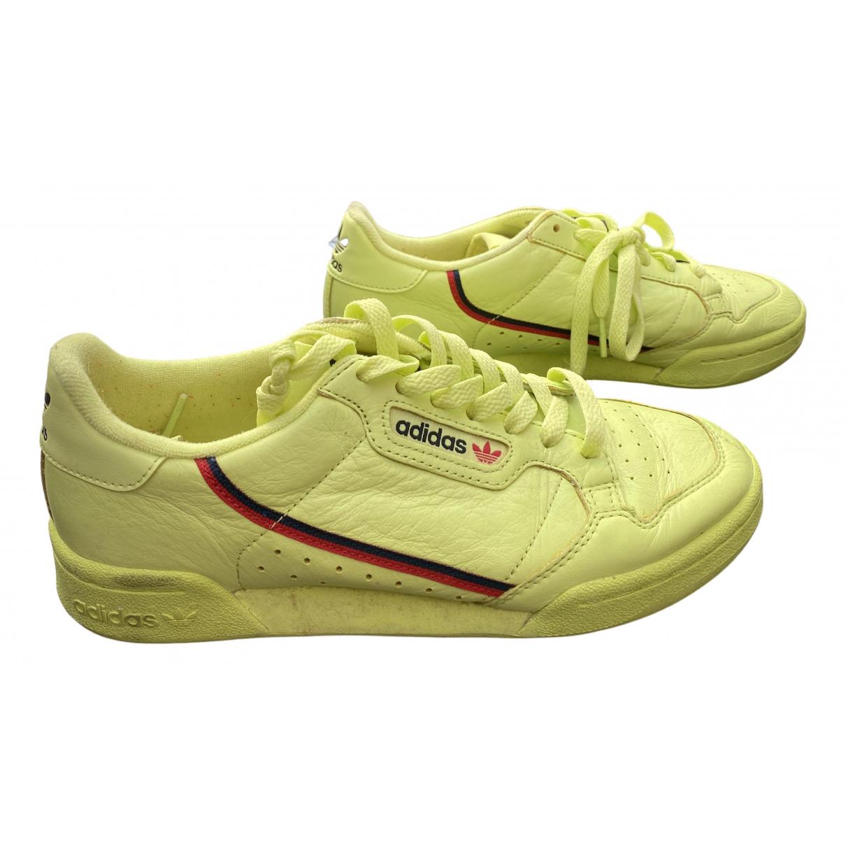 Adidas Continental 80 Sneakers in  Gruen Leder
