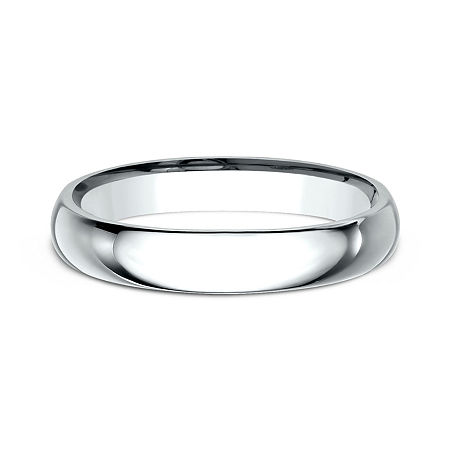 Womens 10K White Gold 3MM Comfort-Fit Wedding Band, 10 1/2 , No Color Family