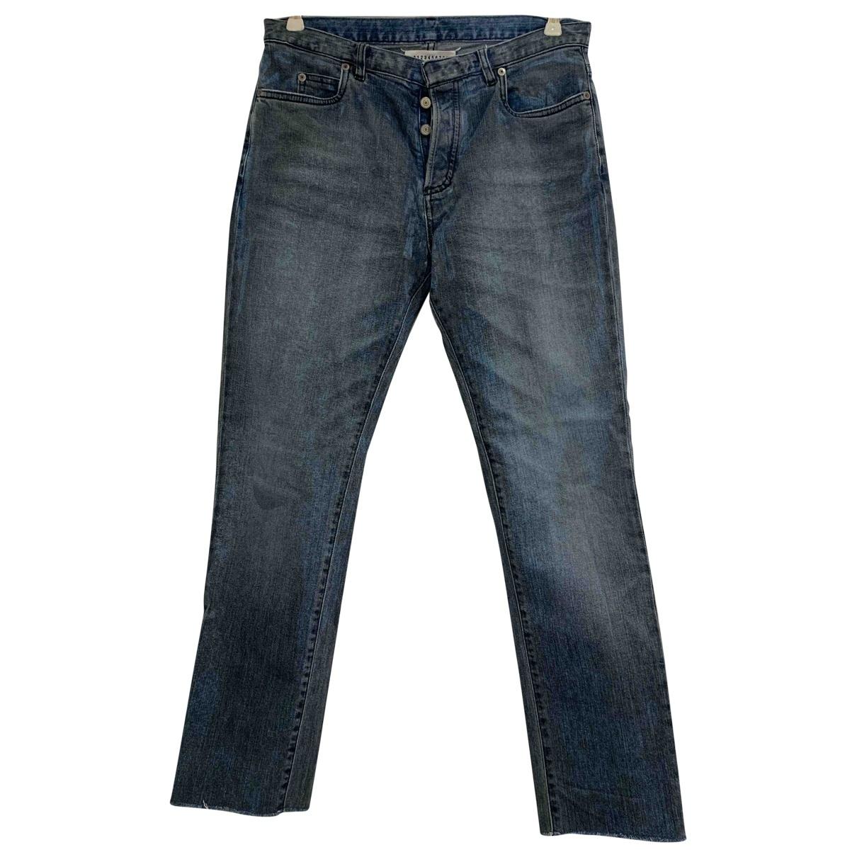 Maison Martin Margiela \N Blue Cotton - elasthane Jeans for Men 30 US