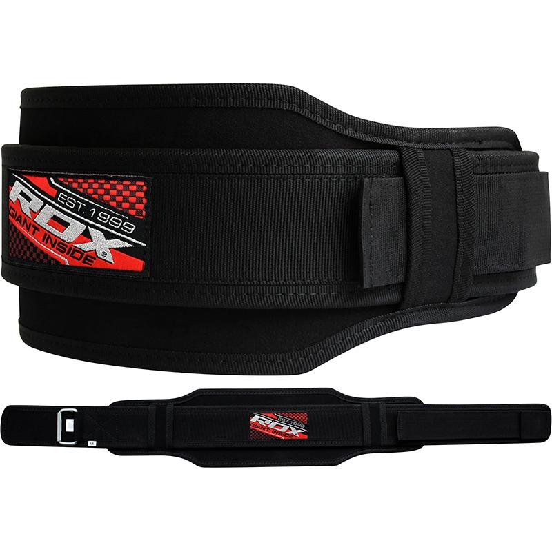 RDX 5D Strength Training Gym Belt Neoprene 5.5 Inch Medium Black/Red/White