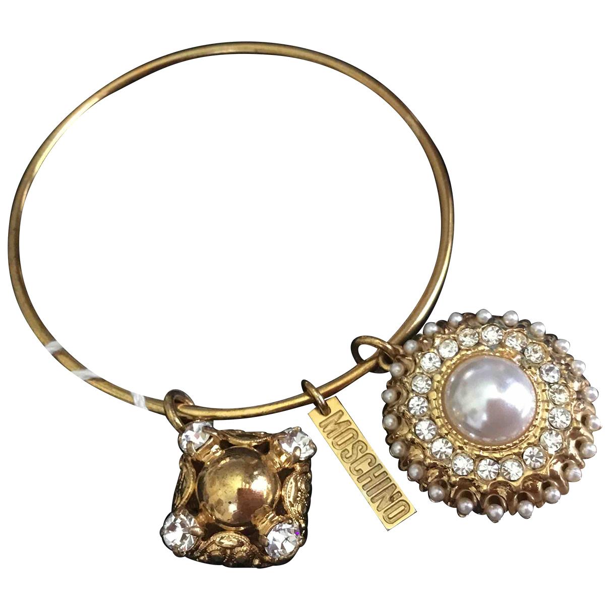 Moschino - Bracelet   pour femme en metal - jaune