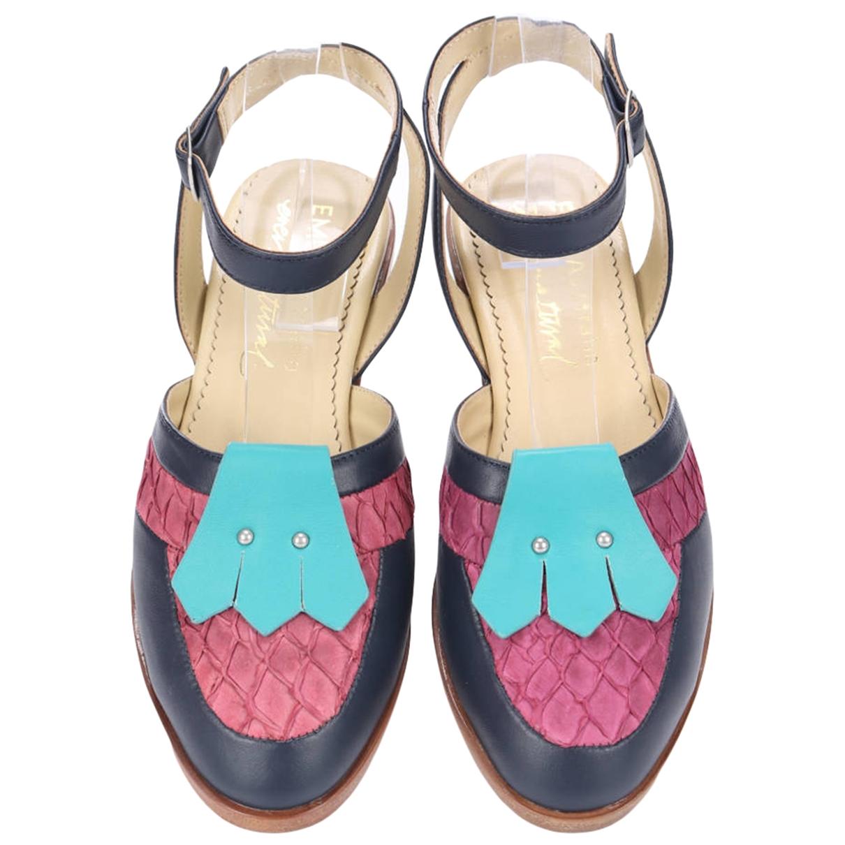 Emu Australia - Sandales   pour femme en cuir - multicolore