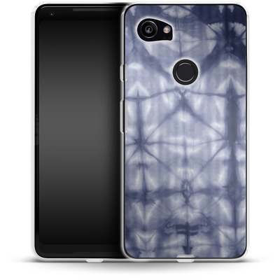 Google Pixel 2 XL Silikon Handyhuelle - Tie Dye 2 Navy von Amy Sia