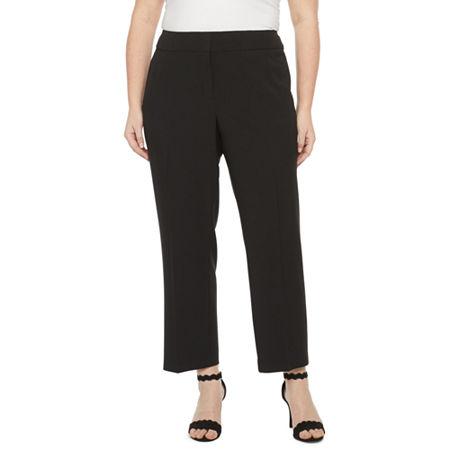 Black Label by Evan-Picone-Plus Classic Fit Suit Pants, 24w , Black