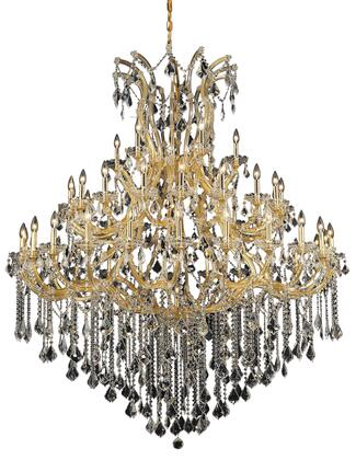 2800G60G/RC 2800 Maria Theresa Collection Large Hanging Fixture D60in H72in Lt: 48+1 Gold Finish (Royal Cut