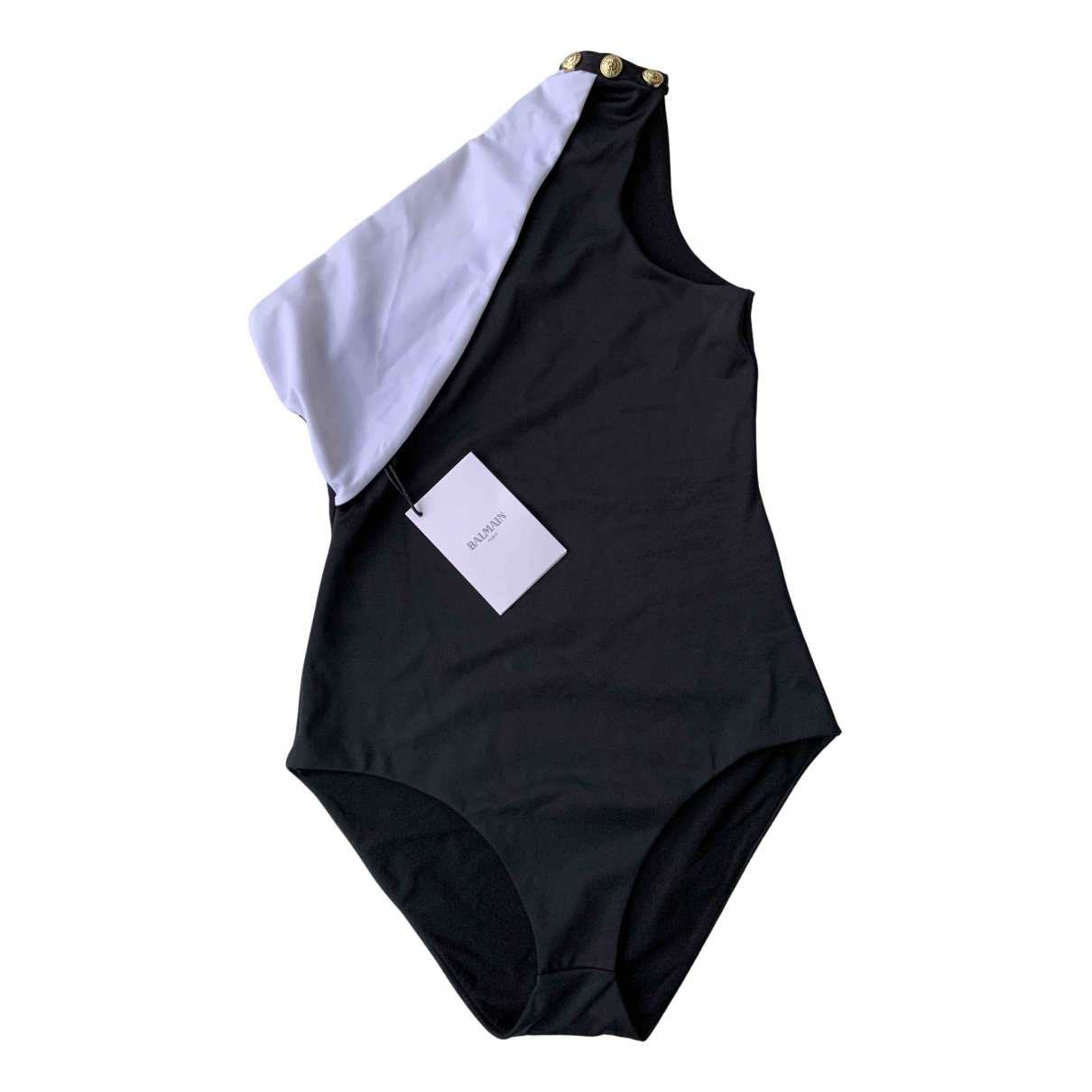 Balmain \N Badeanzug in  Schwarz Polyester
