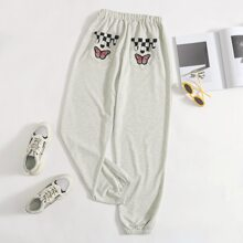 Butterfly & Checkerboard Pocket Joggers