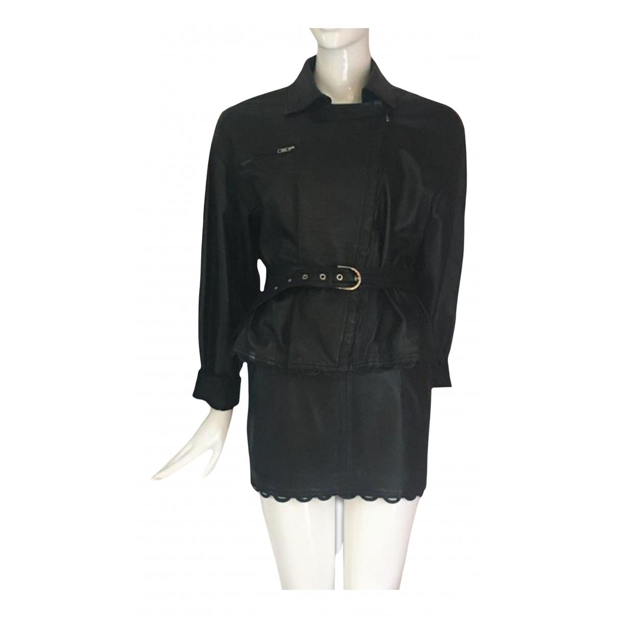 Chantal Thomass N Black Leather Leather jacket for Women S International