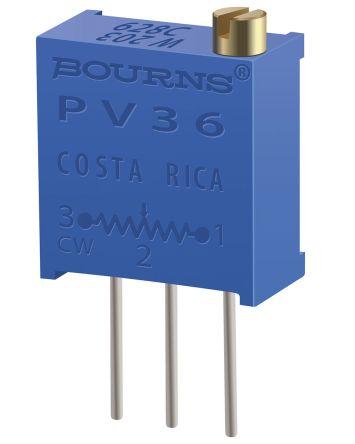 Bourns 5kΩ, Through Hole Trimmer Potentiometer 0.5W Side Adjust , PV36 (50)