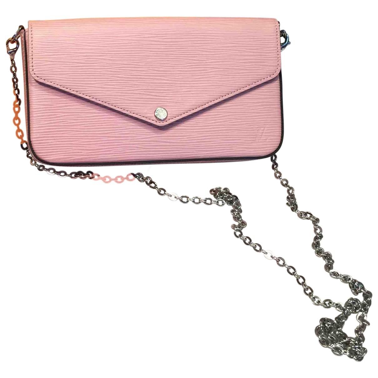 Louis Vuitton - Pochette Felicie pour femme en cuir - rose