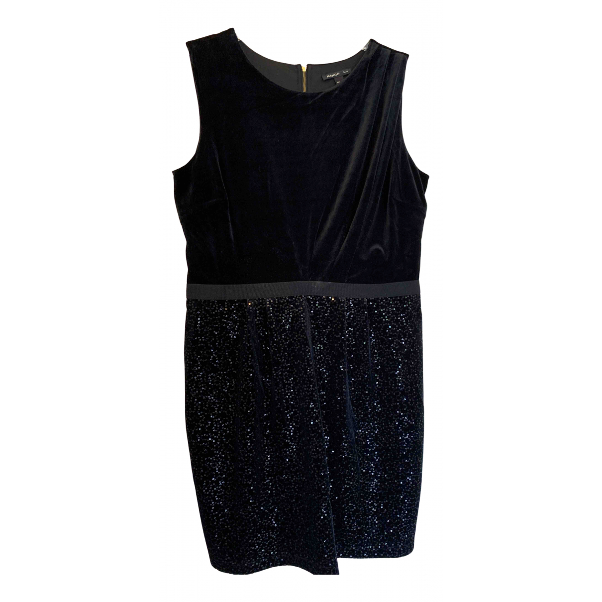 Mango N Black Velvet dress for Women L International