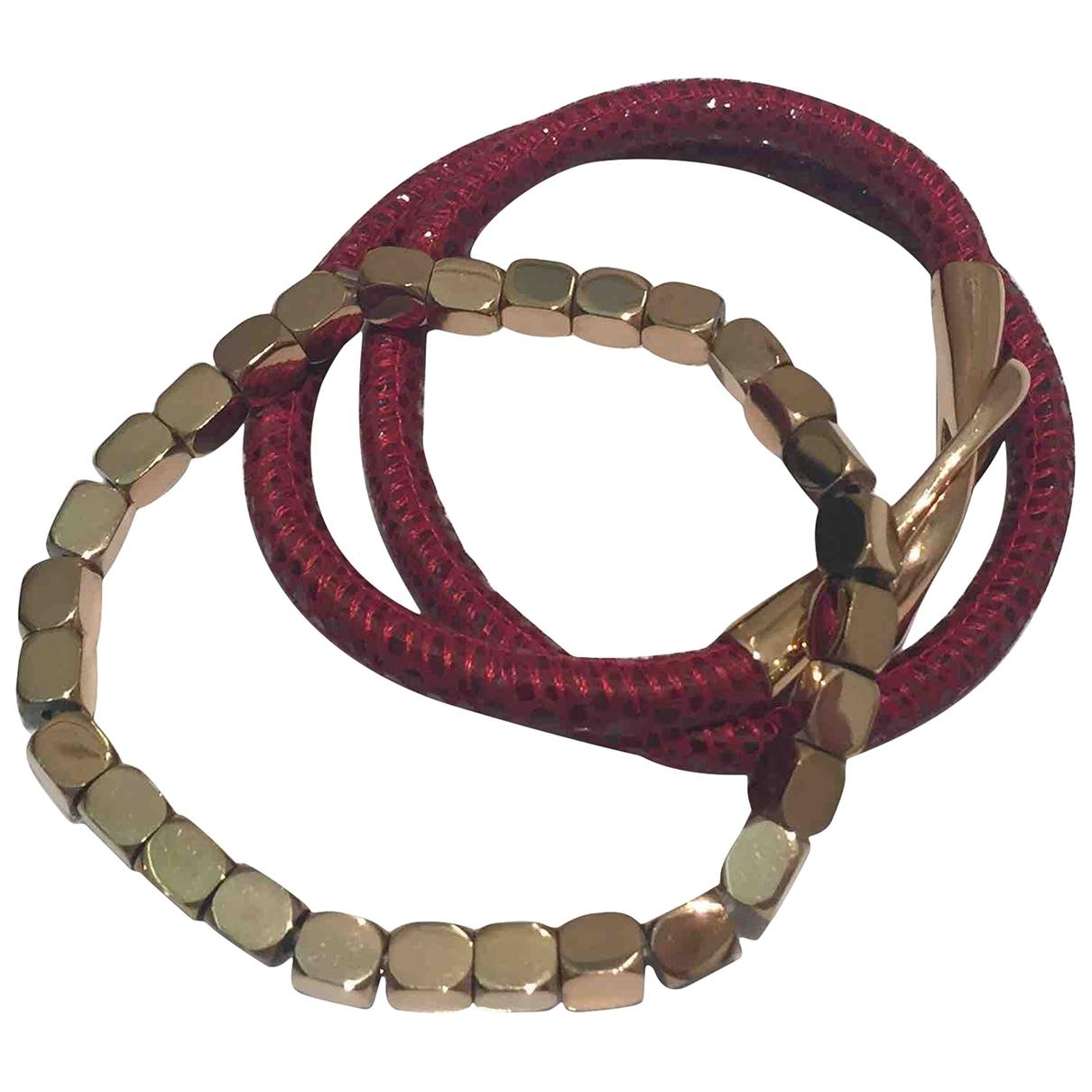 - Bracelet   pour femme en metal - bordeaux