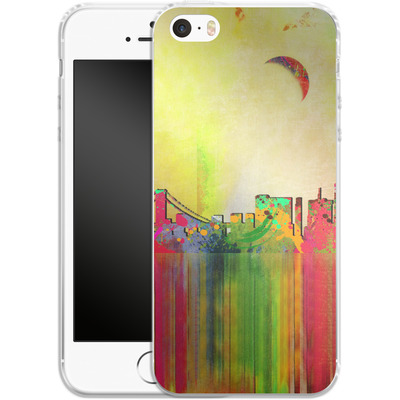 Apple iPhone 5 Silikon Handyhuelle - San Francisco Skyline von Mark Ashkenazi