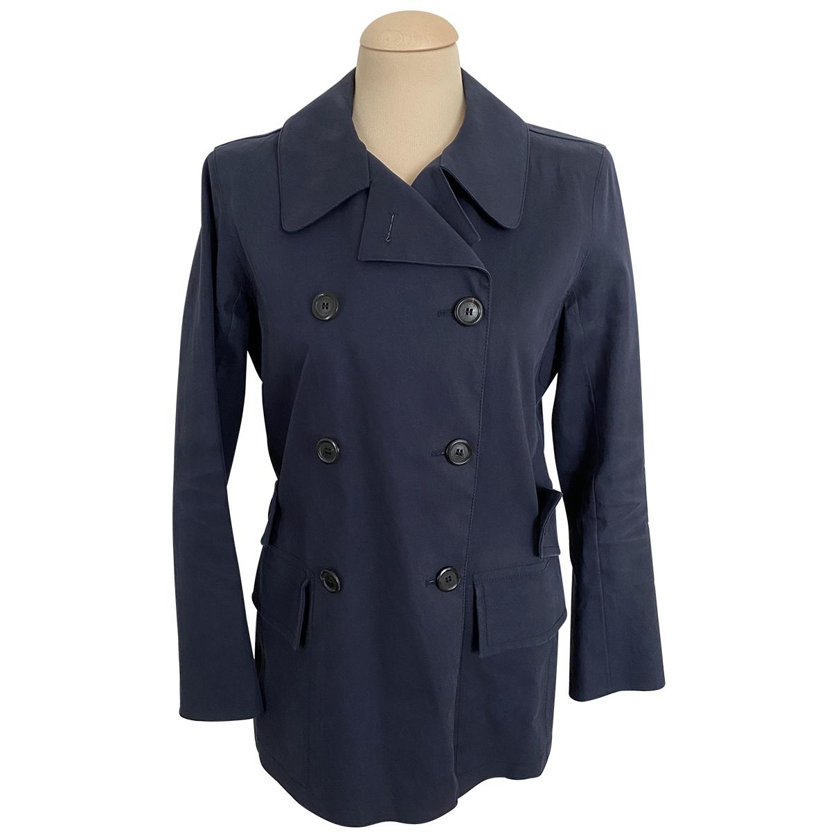 Louis Vuitton - Trench   pour femme en coton - bleu