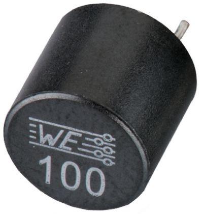 Wurth Elektronik Wurth 2.2 μH ±20% Ferrite Leaded Inductor, Max SRF:75MHz, 10A Idc, 9mΩ Rdc, WE-TIS