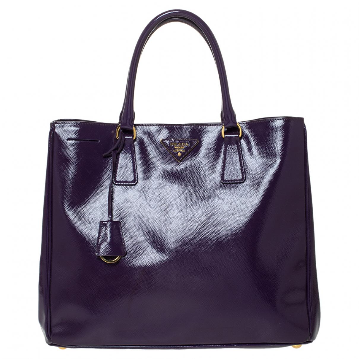 Prada N Purple Patent leather handbag for Women N