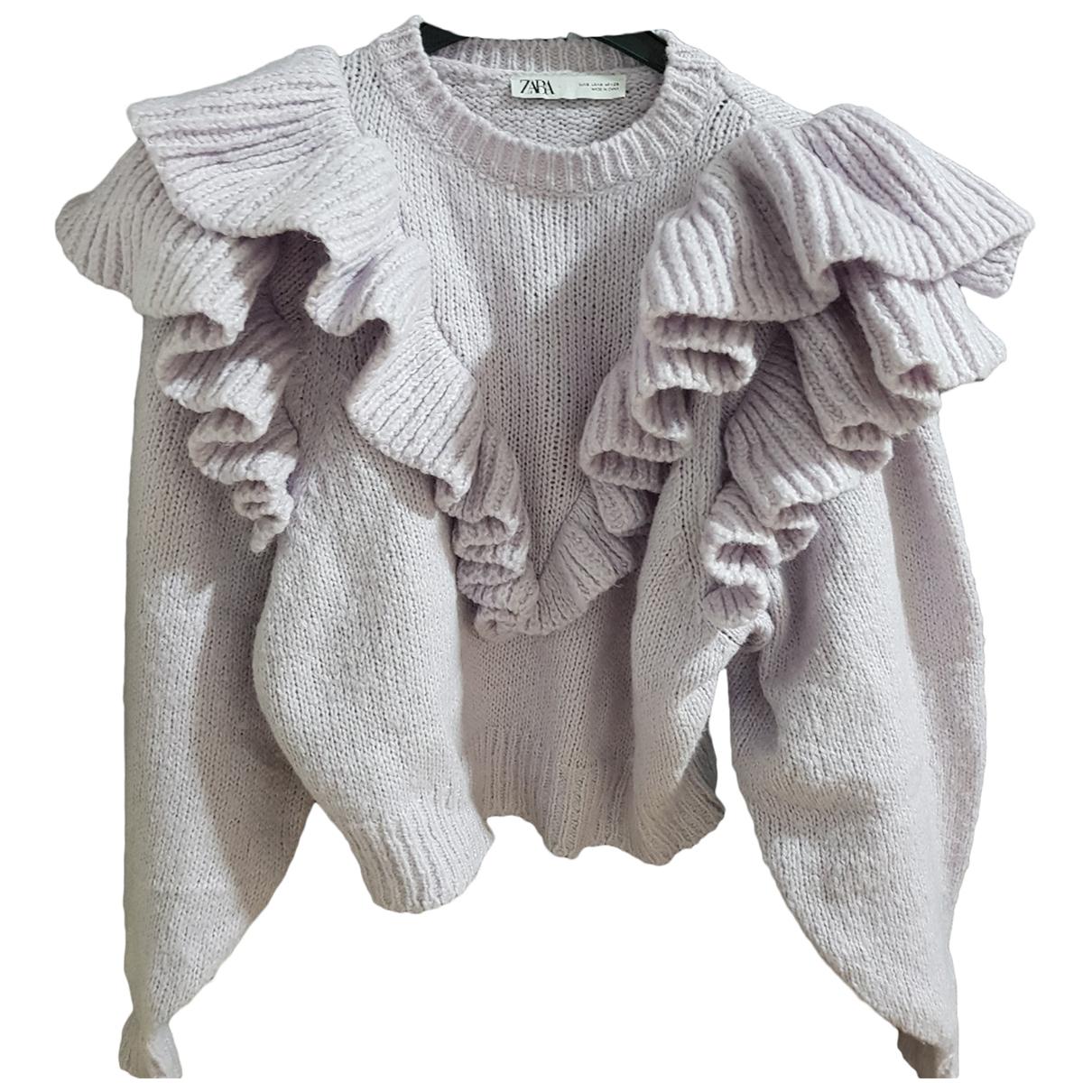 Zara - Pull   pour femme en laine - violet