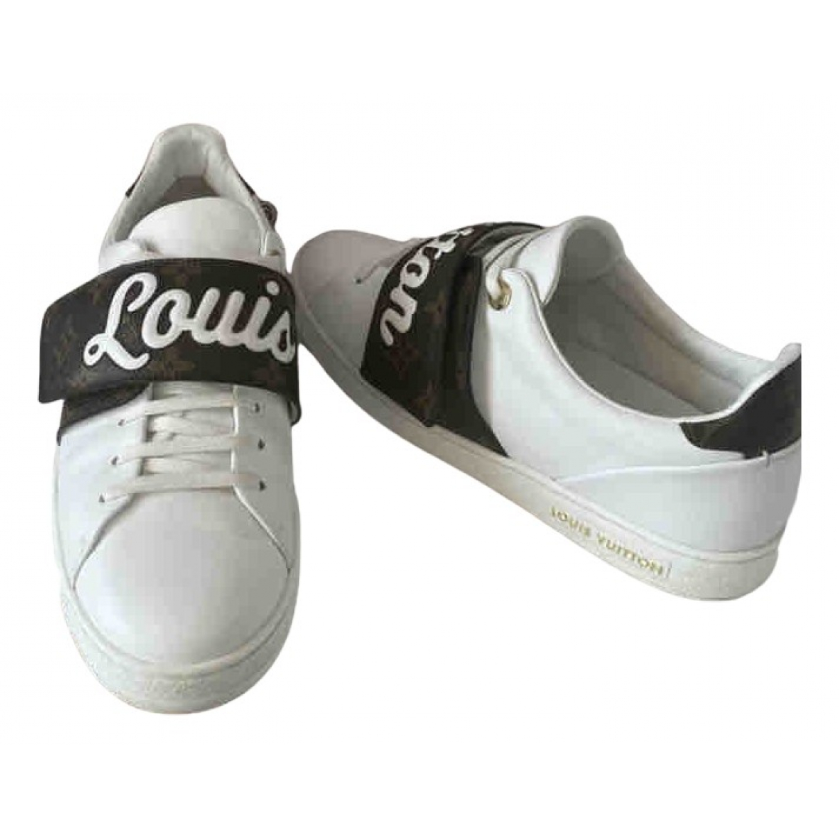 Louis Vuitton FrontRow White Leather Trainers for Women 38.5 EU