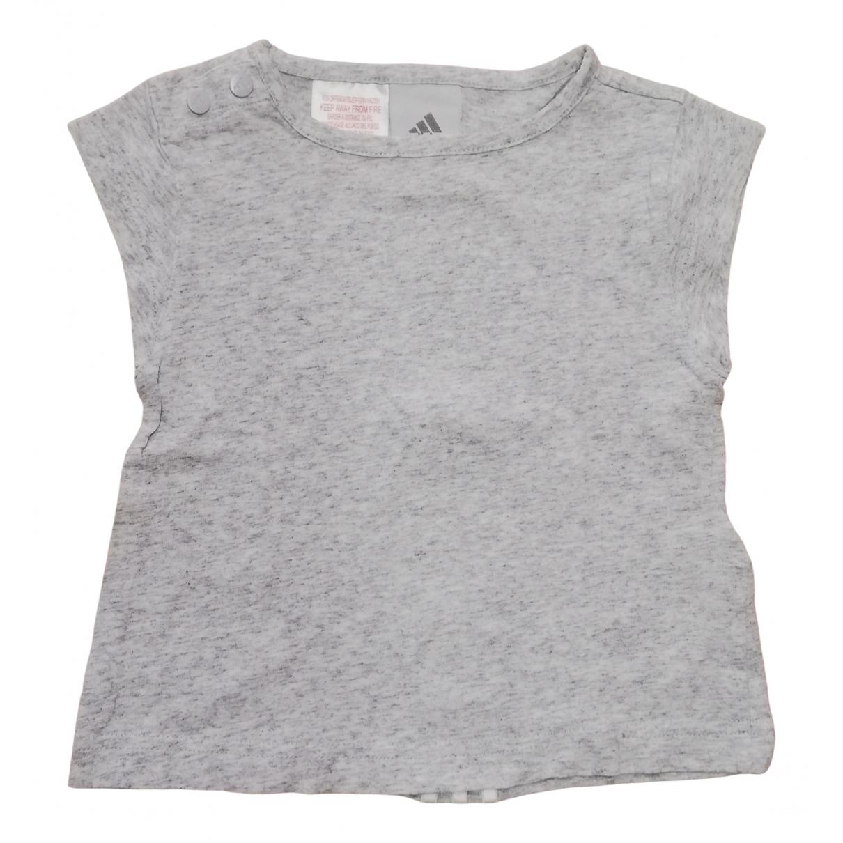 Adidas - Top   pour enfant en coton - gris
