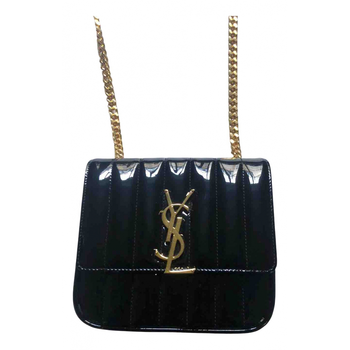 Saint Laurent Vicky Black Patent leather handbag for Women N