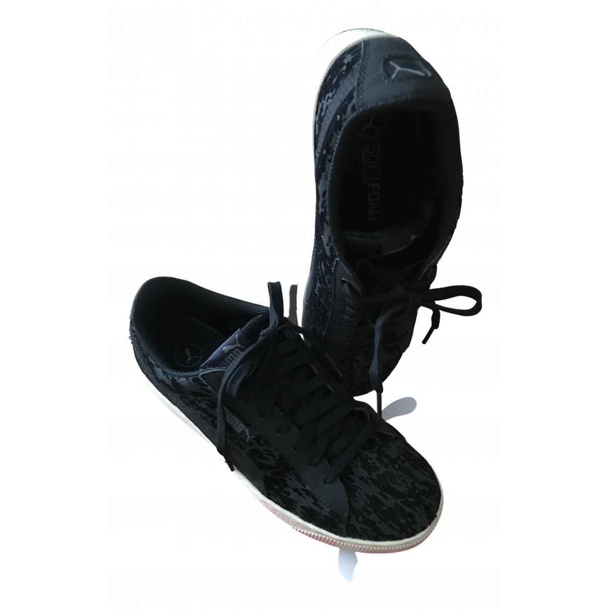Puma N Black Cloth Trainers for Women 38 EU