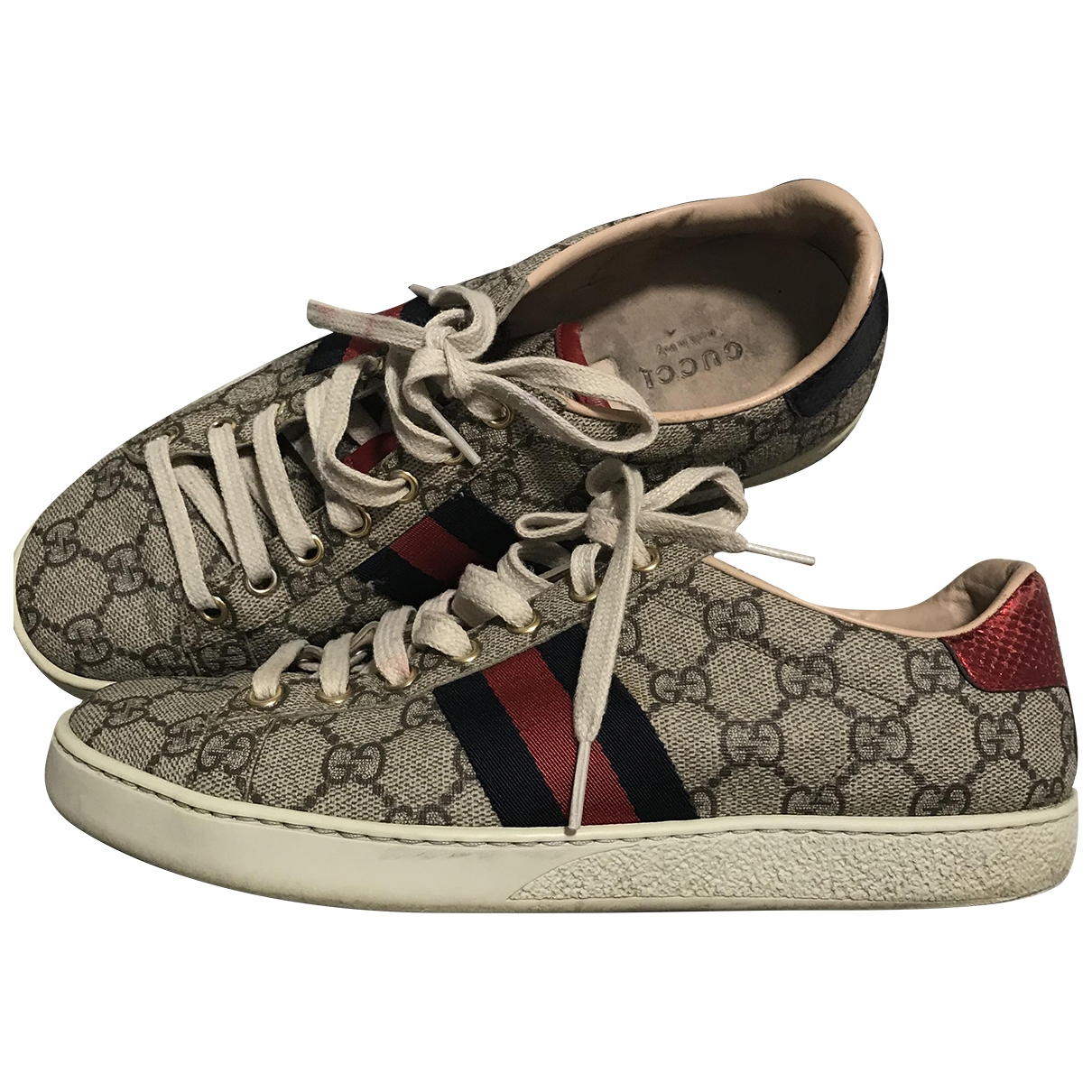 Gucci Ace Beige Leather Trainers for Women 39 EU