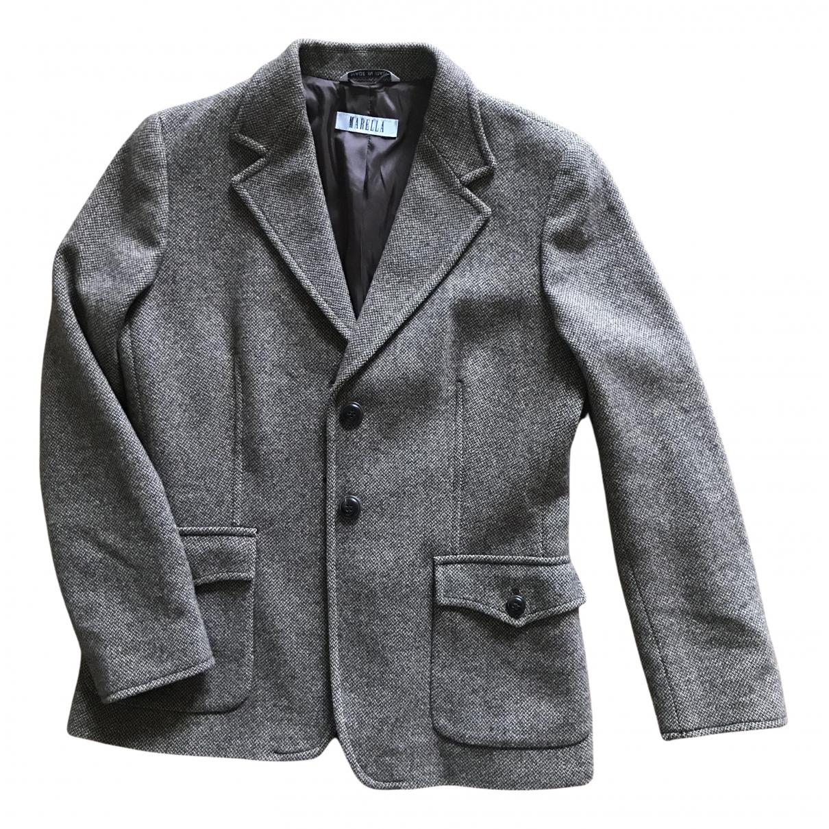 Marella N Brown Wool jacket for Women 44 IT