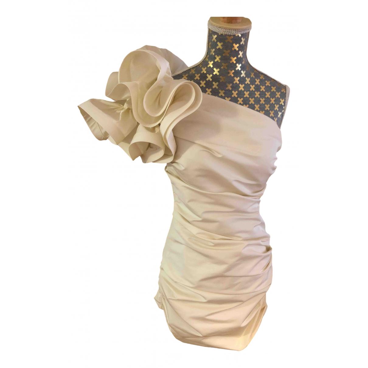 Elisabetta Franchi - Robe   pour femme - beige