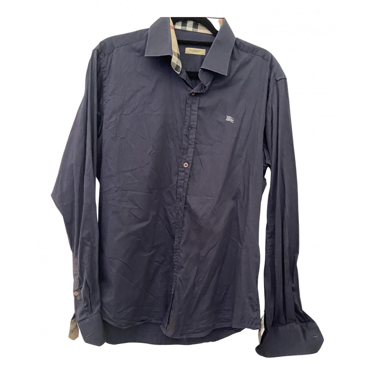 Burberry N Navy Cotton Shirts for Men M International