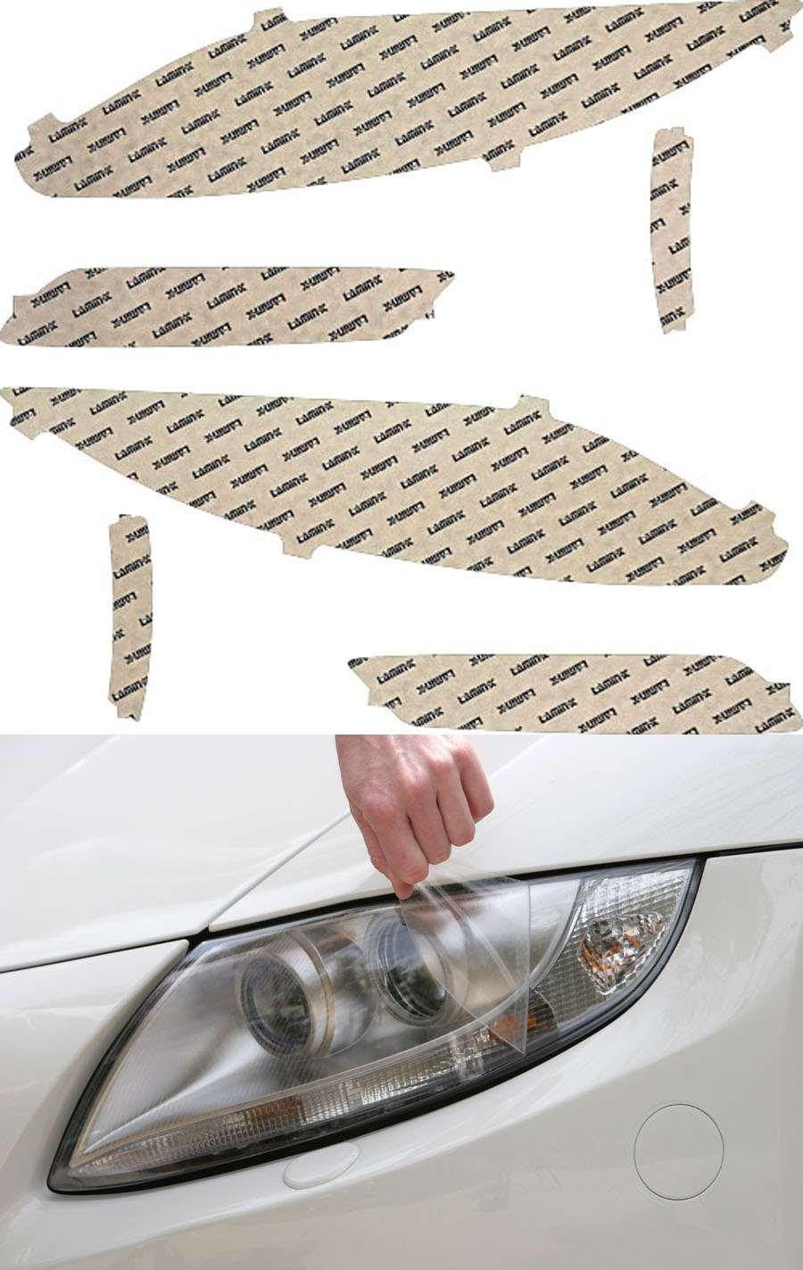 Lincoln MKZ 13-16 Clear Headlight Covers Lamin-X LN012CL