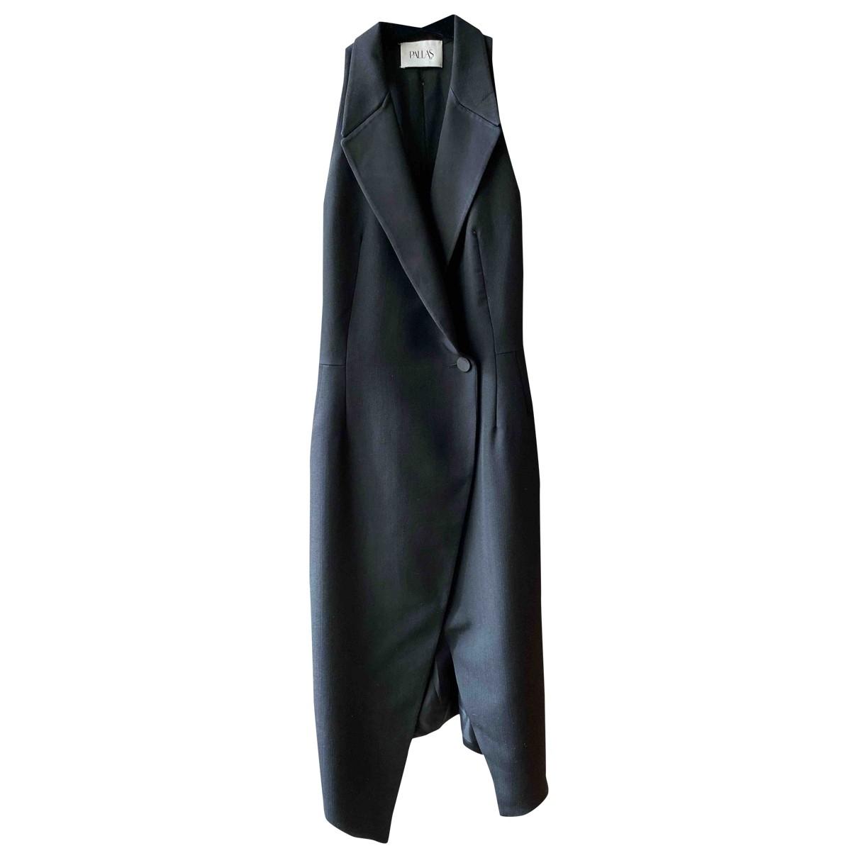 Pallas - Robe   pour femme en laine - noir
