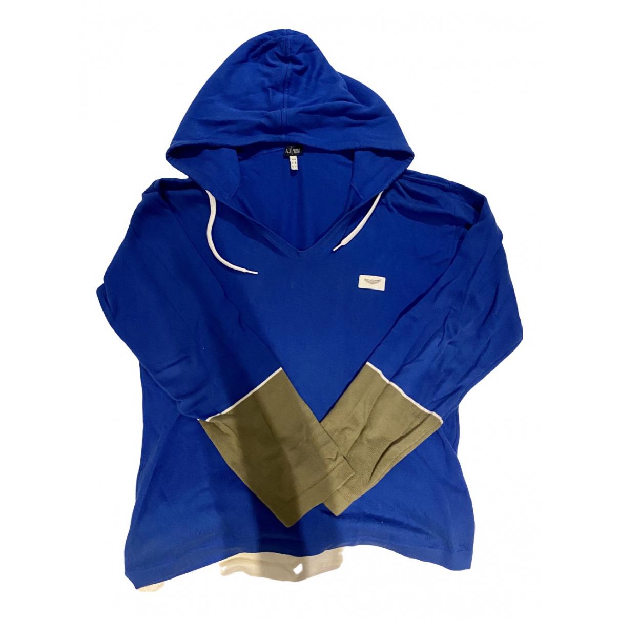 Armani Jeans \N Blue Cotton Knitwear & Sweatshirts for Men XL International