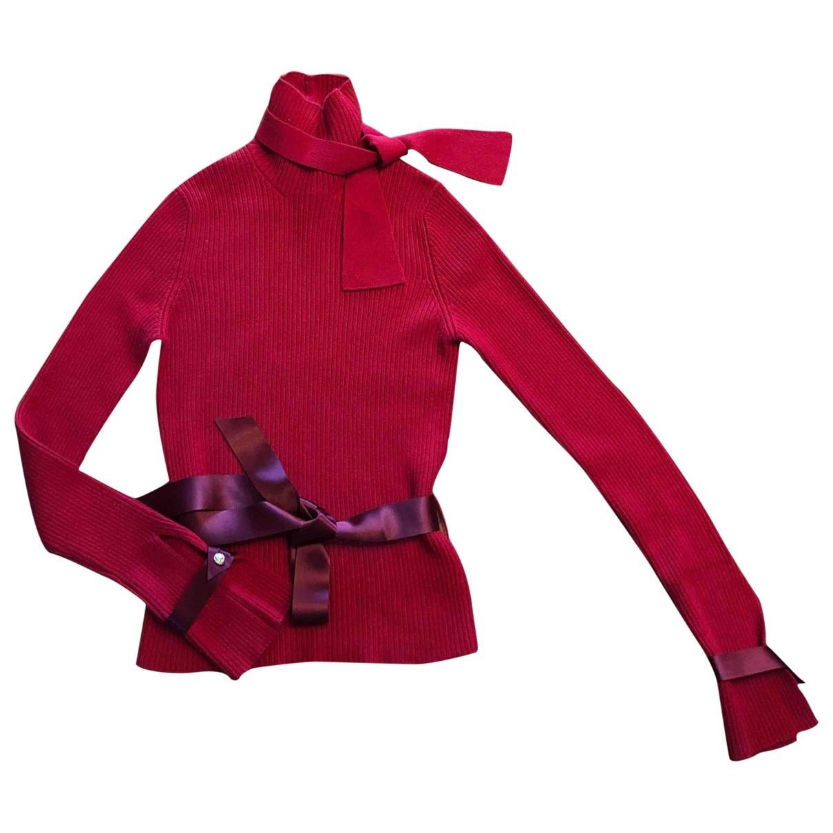Chanel \N Pullover in  Rot Kaschmir