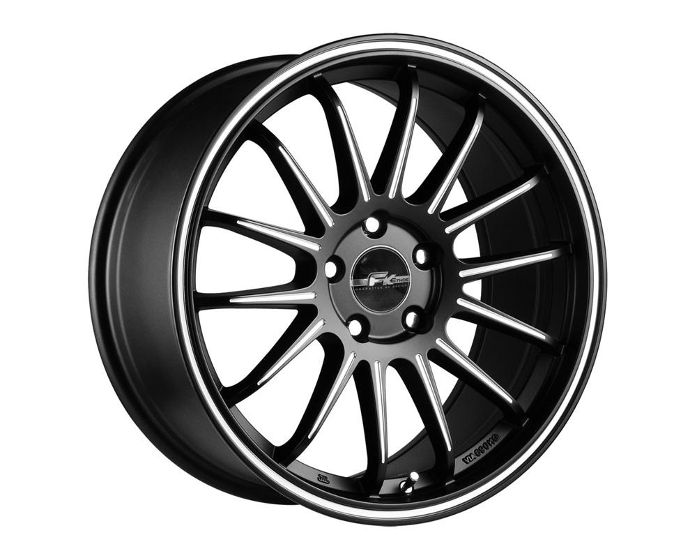 FK Ethos RT87186017 RT-87 Black Ball Cut Machined Wheel 18x9.5 5x114.3 15