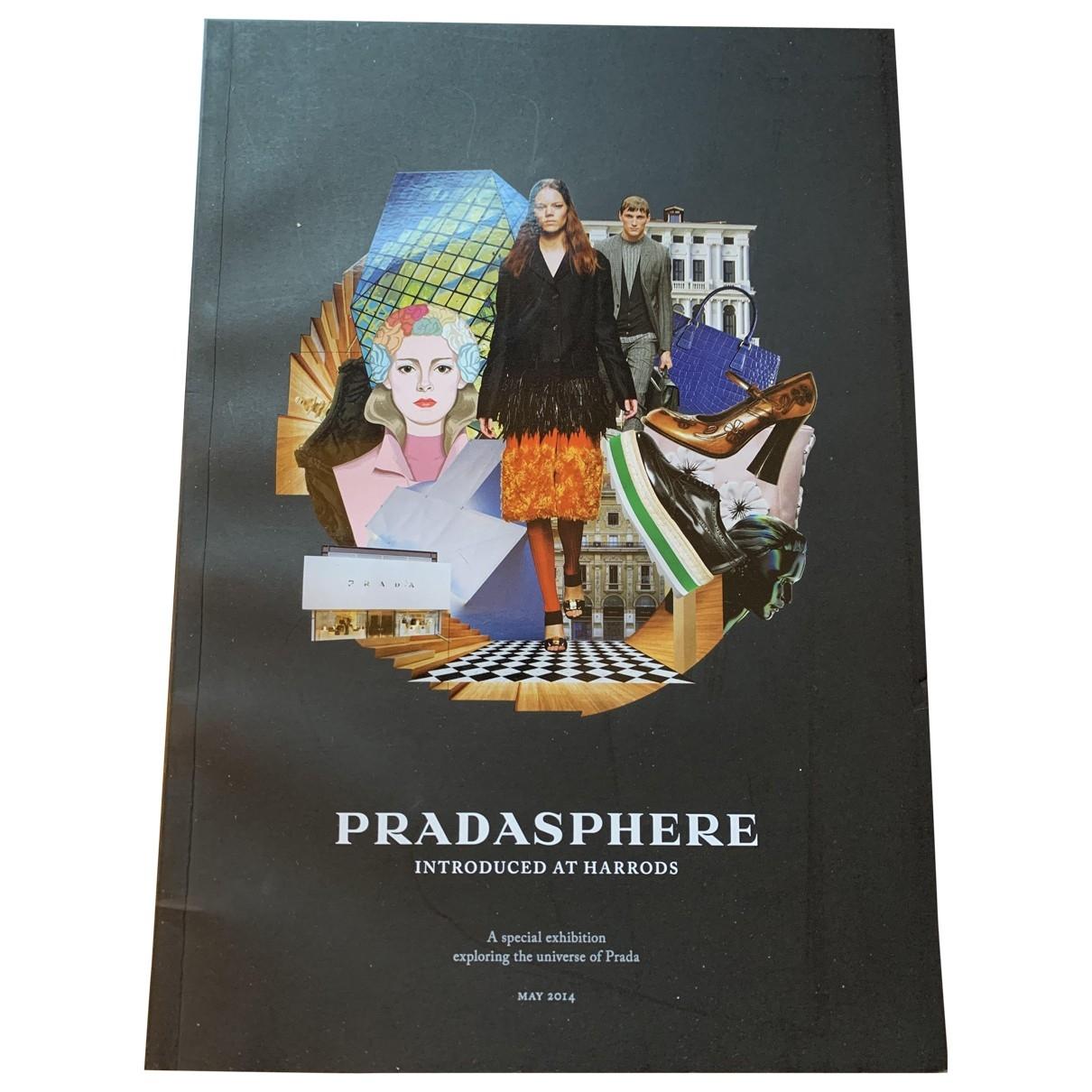 Prada - Art   pour lifestyle en bois - noir